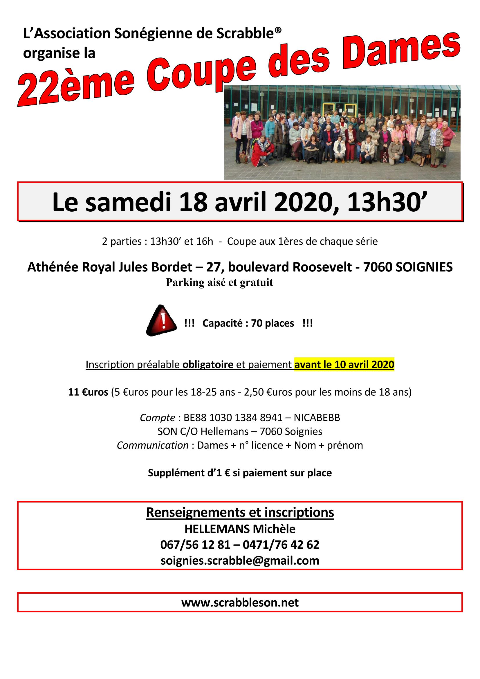 22ème coupe des Dames @ Athénée royal Bordet