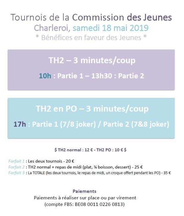 Tournois de la Commission des Jeunes @ Centre Culturel | Montigny-le-Tilleul | Wallonie | Belgique